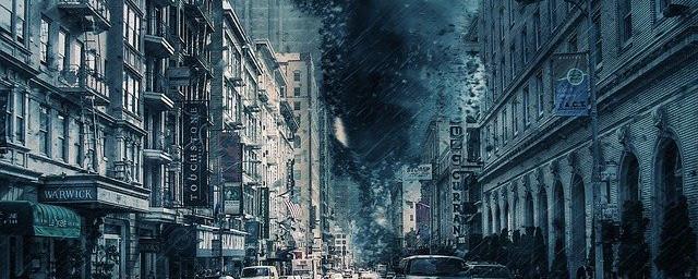 Tornado in the city.
