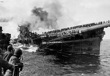 Smoking battleship